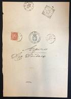 Municipio Di Matelica Cover Con 10 Cent 1890 Cod.bu.262 - 1878-00 Umberto I