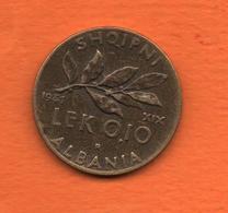 ALBANIE ( Occupation Italienne) 1941 -Lek 0.10 - Cat  World  KM= 28 -tres Bon état   Rare - Albania