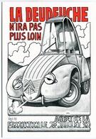 """VEYRI - """"La Deudeuche N'ira Pas Plus Loin"""" - Citroën 2CV - Arrêt De La Production - 1990 - Voir Scan - Veyri, Bernard"""
