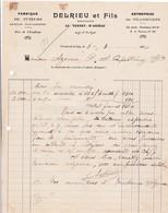 09-Delrieu & Fils..Fabrique De  Tuteurs...Le Vernet-d'Ariège...(Ariège)...1934 - Ambachten