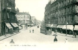 N°68513 -cpa Le Havre -  La Rue Thiers- - Le Havre