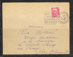 LOT 1812221 - N° 813 SUR LETTRE DE CASTELANNE DU 24/10/50 - DAGUIN - Postmark Collection (Covers)