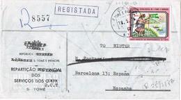 30948. Carta Aerea Certificada SANTO TOMÉ E PRINCIPE 1976. Independencia - Sao Tomé Y Príncipe