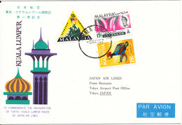 Malaysia First Flight Cover Japan Air Lines Inauguration Of Tokyo - Kuala Lumpur Route 9-5-1987 - Malaysia (1964-...)