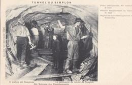 TUNNEL DU SIMPLON - Le Percement Du Tunnel Du Simplon - Premier élargissement Du Tunnel De Base - VS Valais