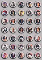 35 X The Rolling Stones Keith Richards Music Fan ART BADGE BUTTON PIN SET 6 (1inch/25mm Diameter) - Music