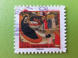"""Timbre France YT 624 AA - Meilleurs Voeux - Nativité - """"Adoration Des Mages"""" Par L'Ecole Italienne - 2011 - Adhésifs (autocollants)"""