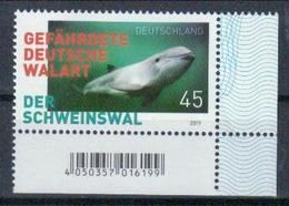 Deutschland 'Gefährdete Walart, Schweinswal' / Germany 'Endangered Whale Species, Harbour Porpoise' **/MNH 2019 - Baleines