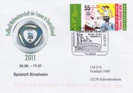 Germany Cover 2011Football World Championship Women Spielort Sinsheim - Used Sinsheim - 2 Glue Remainder On Back - Fussball