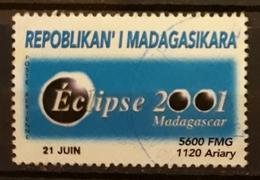 MADAGASCAR 2001 Total Solar Eclipse. USADO - USED. - Madagascar (1960-...)