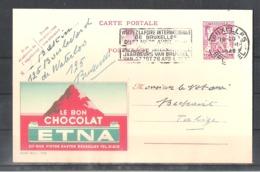 """EP Belgique Publibel 705 """" Le Bon Chocolat Etna """" - Bruxelles 1948 - Entiers Postaux"""