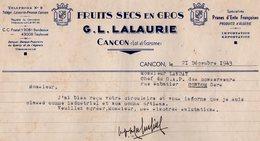 VP13.734 - Lettre - Fruits Secs En Gros G.L. LALAURIE à CANCON ( Lot Et Garonne ) - France