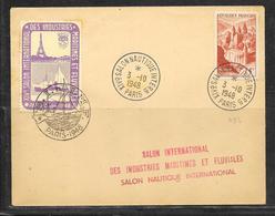 LOT 1812231 - N° 792 SUR LETTRE DE PARIS DU 03/10/48 - VIGNETTE SALON INTERNATIONAL DES INDUSTRIES MARITIMES ET FLUVIALE - Poststempel (Briefe)