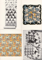 MC Echer Birds Magic Mirror Sun & Moon 4x Bird Painting Postcard S - Peintures & Tableaux