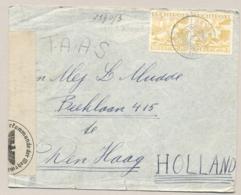 Curacao - 1940 - 2x 30 Cent Luchtpost Op Censored Cover Van KB ARUBA/St NICOLAAS Via KB ARUBA/ORANJESTAD Naar Den Haag - Curaçao, Antilles Neérlandaises, Aruba