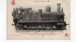 Les Locomotives  (Ceinture) Machine De La Cie Du Chemin De Fer De Ceinture Dite Boer Faisant Le Service De Ceinture. - Trains