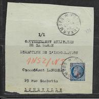 LOT 1812232 - N° 791 SUR DEVANT DE LETTRE OBLITEREE POSTE AUX ARMEES  POUR LUNEVILLE - Postmark Collection (Covers)