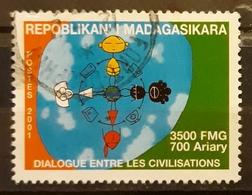 MADAGASCAR 2001 International Year Of Dialogue Among Civilizations. USADO - USED. - Madagascar (1960-...)