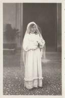 8110. Vecchia Old Photo Bambina Prima Comunione Foto Scagliola Novi Ligure 26 Settembre 1937 14x9 - Personnes Anonymes