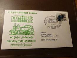 Brief Eisenbahn Ansbach Wicklesgreuth Windsbach  1984  #cover4459 - Trains
