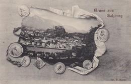 AK Gruß Aus Salzburg - Münzen Medaillen - Ca. 1910  (38526) - Salzburg Stadt