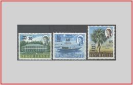 Seychelles GB 1968 - Cat. 233/35 (MNH **) Soggetti Vari (sovrastampati) - Various Subjects (010696) - Seychelles (...-1976)