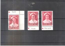 Belgium - Croix Rouge - PU179+181+186 - Obl/gest/used - Werbung
