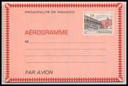 4473 Cour Du Palais 1972 Neuf Aerogramme Monaco Entier Postal Stationery - Entiers Postaux
