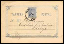 4532 Malaga 1876 Carte Postale Espagne (spain) Entier Postal Stationery - Stamped Stationery