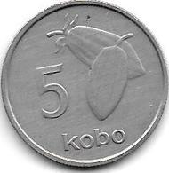 *nigeria 5  Kobo 1973  Km 9.1   Xf+ !!! - Nigeria