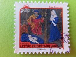 """Timbre France YT 626 AA - Meilleurs Voeux - Nativité - """"La Nativité"""" De Jean Fouquet - 2011 - Adhésifs (autocollants)"""