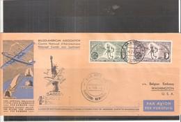Vol Spécial Belgique - Etats-Unis D'Amérique Par SABENA  4-7-46 - BASTOGNE - Poste Aérienne