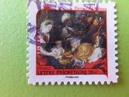"""Timbre France YT 629 AA - Meilleurs Voeux - Nativité - """"L'Adoration Des Mages"""" De Pierre Paul Rubens - 2011 - Adhésifs (autocollants)"""