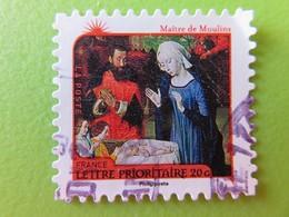 """Timbre France YT 630 AA - Meilleurs Voeux - Nativité - """"L'Adoration De L'enfant Jésus"""" Par Le Maître De Moulins - 2011 - Adhésifs (autocollants)"""