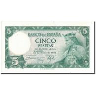 Billet, Espagne, 5 Pesetas, 1954, 1954-07-22, KM:146a, SPL+ - [ 3] 1936-1975 : Régence De Franco