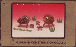 Télécarte Japon * YEAR Of The PIG (己亥) ZODIAC * Doré Gold (578) COCHON * PHONECARD JAPAN * TK * SCHWEIN * PORCO * VARKEN - Zodiaque