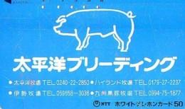 Télécarte Japon *  YEAR Of The PIG (己亥) ZODIAC  (617) COCHON * PHONECARD JAPAN * TK * SCHWEIN * PORCO * VARKEN - Zodiac