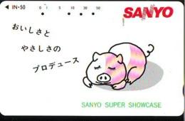 Télécarte Japon *  YEAR Of The PIG (己亥) ZODIAC  (622) COCHON * PHONECARD JAPAN * TK * SCHWEIN * PORCO * VARKEN - Zodiac