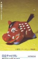 Télécarte Japon *  YEAR Of The PIG (己亥) ZODIAC  (636) COCHON * PHONECARD JAPAN * TK * SCHWEIN * PORCO * VARKEN - Zodiac