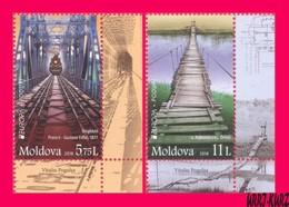 MOLDOVA 2018 Europa CEPT Bridges Eiffel Railway Bridge & Wooden Bridge 2v Mi1031-1032 Sc969-970 MNH - Moldova