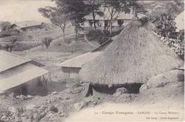POSTAL DE CONGO FRANCAIS DE BANGHI- LE CAMP MILITAIRE (CLIXE AUGOUARD) - Congo Francés - Otros