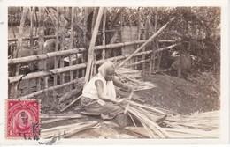 POSTAL DE FILIPINAS DE TRABAJANDO LA PALMA DEL AÑO 1930 - Filipinas