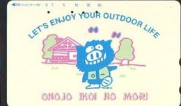 Télécarte Japon * YEAR Of The PIG (己亥) ZODIAC * (653) COCHON * PHONECARD JAPAN * TK * SCHWEIN * PORCO * VARKEN - Zodiaque
