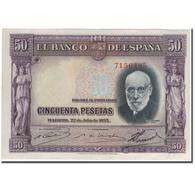 Billet, Espagne, 50 Pesetas, 1935-07-22, KM:88, SUP - [ 2] 1931-1936 : République