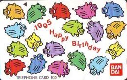 Télécarte Japon * YEAR Of The PIG (己亥) ZODIAC * (676) COCHON * PHONECARD JAPAN * TK * SCHWEIN * PORCO * VARKEN - Zodiaque