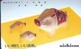 Télécarte Japon * YEAR Of The PIG (己亥) ZODIAC * (678) COCHON * PHONECARD JAPAN * TK * SCHWEIN * PORCO * VARKEN - Zodiaque