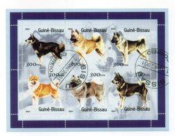 """GUINEA BISSAU - 2001 - Foglietto Tematica """" Animali - Cani """" - 6 Valori - Con Doppio Annullo - Vedi Foto - (FDC13552) - Guinea-Bissau"""