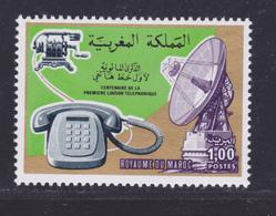 MAROC N°  775 ** MNH Neuf Sans Charnière, TB (D8085) Cosmos, Centenaire De La 1ère Liaison Téléphonique - 1976 - Morocco (1956-...)