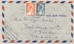 Curacao - 1947 - 10 En 15 Cent Wilhelmina Met Sluier Op LP-cover Van KB Curacao/Willemstad Naar Haarlem / Nederland - Curaçao, Nederlandse Antillen, Aruba