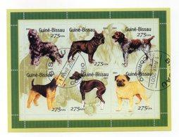 """GUINEA BISSAU - 2001 - Foglietto Tematica """" Animali - Cani """" - 6 Valori - Con Doppio Annullo - Vedi Foto - (FDC13554) - Guinea-Bissau"""